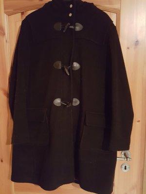 Dufflecoat Mantel in schwarz