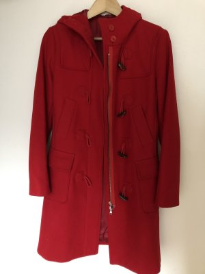 United Colors of Benetton Duffle-coat rouge foncé-rouge