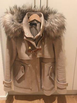Zara Chaqueta de lana beige
