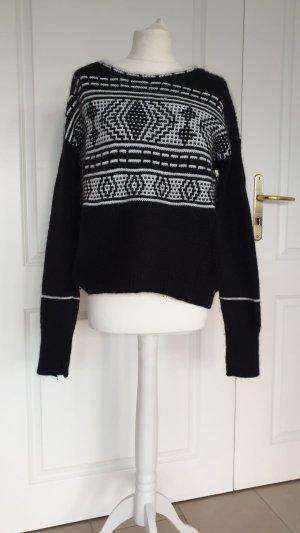 Duffy Wool Sweater white-black