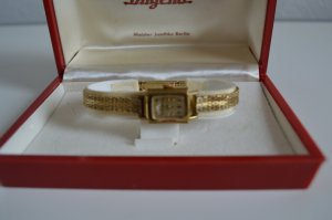Dugena vergoldete Damenuhr 50/60er Jahre im Original Etui
