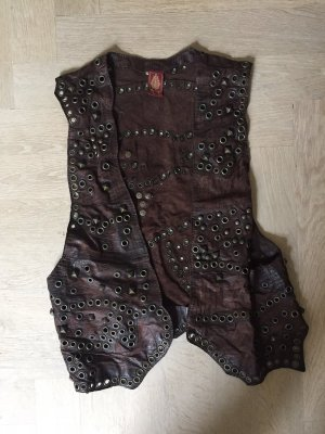 Dondup Leather Vest multicolored leather