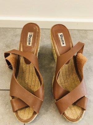 Dune Wedge Sandals brown
