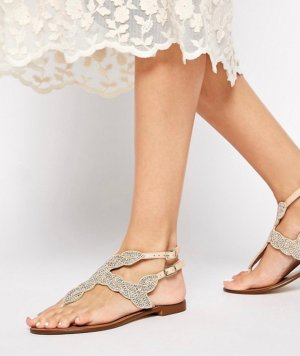 Dune Toe-Post sandals multicolored leather