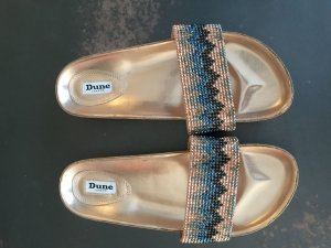 DUNE LONDON Pantolette mit Strass in rosegold, Gr. 41