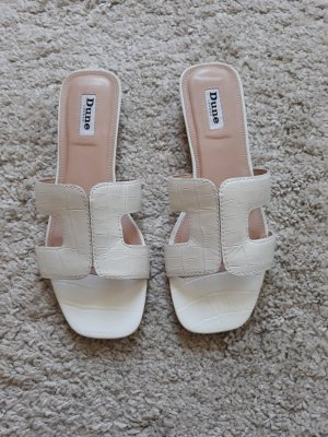 Dune Comfort Sandals white leather