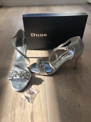 Dune London silber/ metallic High Heels Hochzeit, Abiball, besondere Anlässe