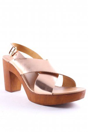 Dune Platform High-Heeled Sandal rose-gold-coloured-beige beach look