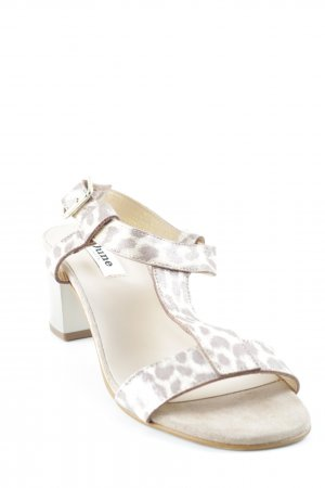 Dune Strapped High-Heeled Sandals leopard pattern glittery