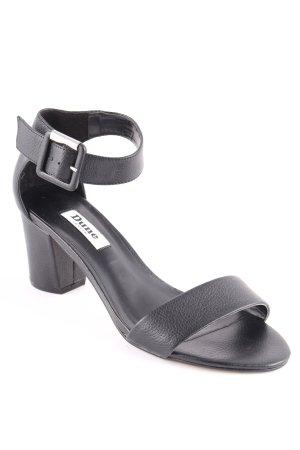 Dune Riemchen-Sandaletten schwarz klassischer Stil