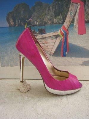 Dune´ Spektakuläre Sexy Heels Spiegelstilettos 11,1 cm Knall Pink NP 119 € Top