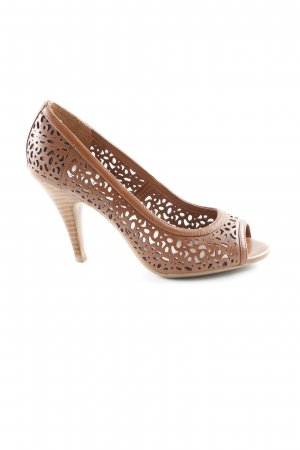 Dune Spitz-Pumps cognac Boho-Look