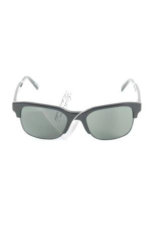 Dunhill eckige Sonnenbrille schwarz klassischer Stil