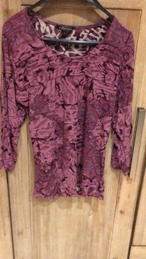 Top batik violet-blanc coton