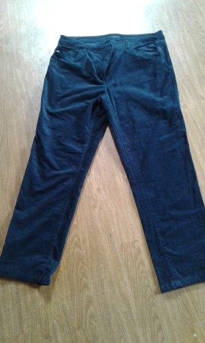 Canda Pantalone di velluto a coste blu scuro