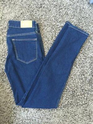 Dunkel Blaue Jeans Hose