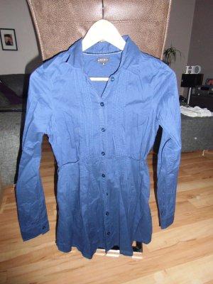 dunkel blaue taillierte Bluse