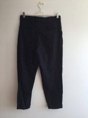 COS Trousers dark blue wool