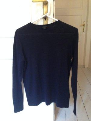 COS Jersey de lana azul oscuro Lana
