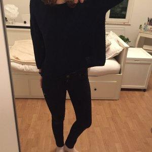 Dunkel blauer Pullover von Mango, M,