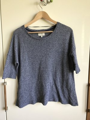 Zara Crochet Sweater steel blue-white