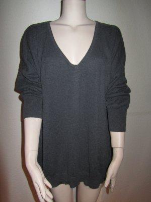 Dunkel Grauer Oversized Pullover von Herrlicher