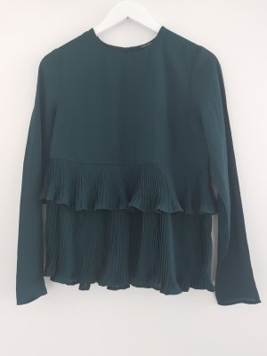 Blouse Top forest green