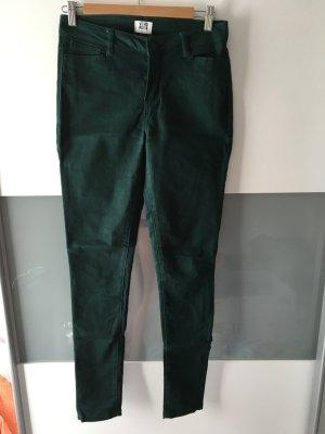 Dunkel-grüne Skinny Jeans