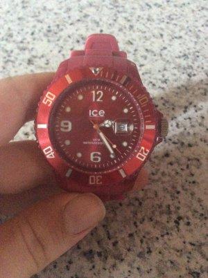 Dunkel rote Ice Watch Uhr