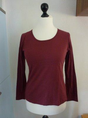 dunkel rotes Langarm Shirt von Gr.M