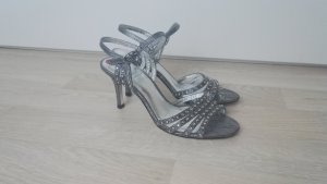 Adrianna Papell Strapped Sandals silver-colored-dark grey