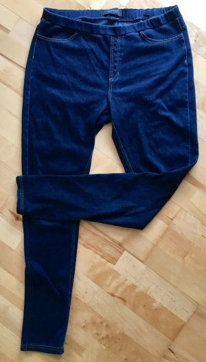 Dunkelbkaue jeggings high waist