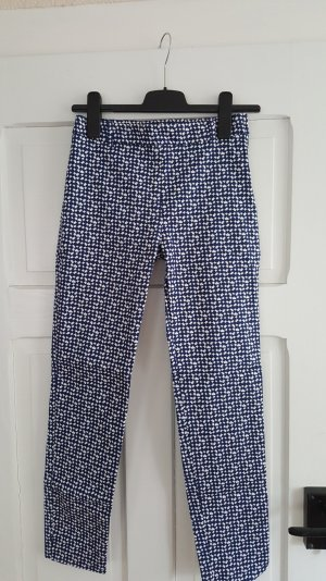 Zara Peg Top Trousers white-blue cotton