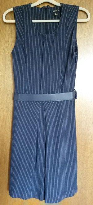 dunkelblau gestreiftes Kleid von Mango Suit in Gr. M