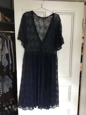 Urban Outfitters Hippie Dress dark blue-blue