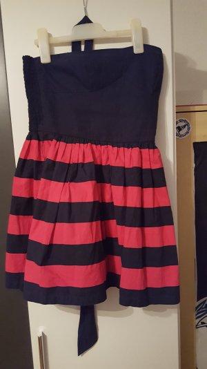 Dunkelblau-Pink Kleid Hollister
