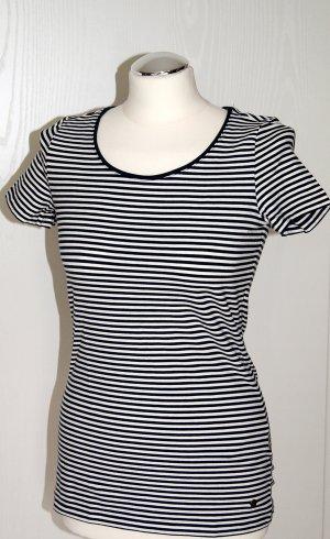 Dunkelblau-weiß gestreiftes Shirt - Nur einmal getragen!