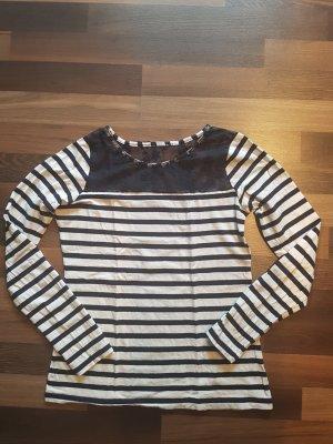 Camisa de rayas azul oscuro-blanco