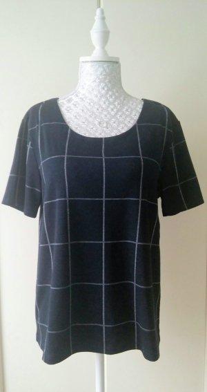 dunkelblau/weisses T-Shirt mit großen Karos von C&A