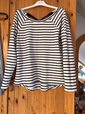 H&M Sweater white-dark blue