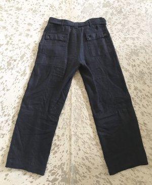 Eddie Bauer Pantalón de lino azul oscuro Lino