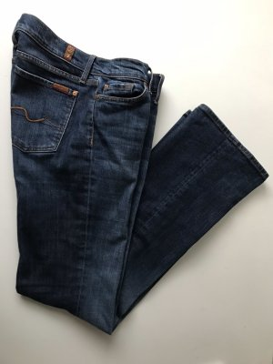 7 For All Mankind Vaquero de corte bota azul oscuro