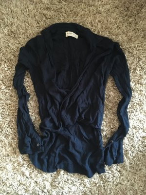 Dunkelblaue Abercrombie & Fitch Bluse