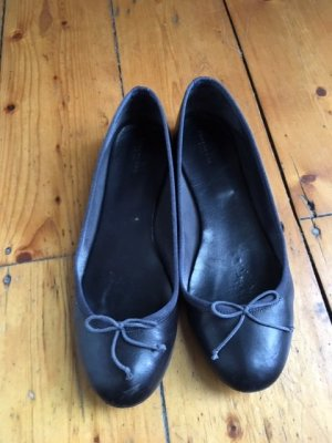 Strenesse Mary Jane Ballerinas dark blue leather
