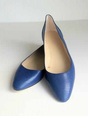 dunkelblaue Ballerinas von Zara