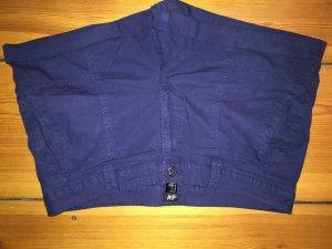 Dunkelblaue Baumwoll-Shorts