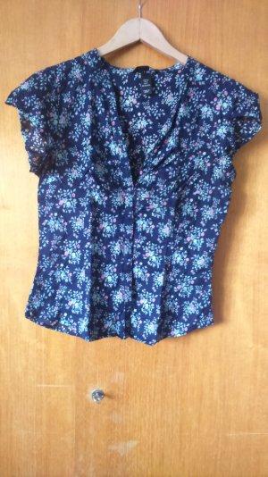 dunkelblaue Baumwollbluse