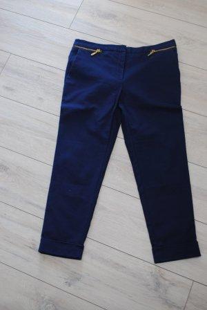Zara Pantalón tipo suéter azul oscuro