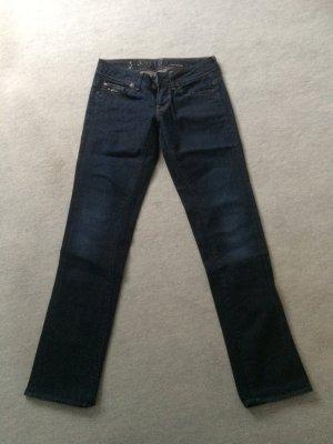 dunkelblaue / blaue Jeans 3301 New Reese Straight WMN von G-Star - Gr. 27/32