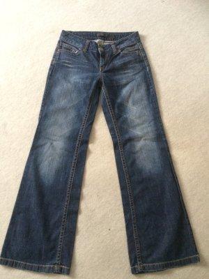dunkelblaue / blaue Jeans von Only, weites Bein / Boot Cut - Gr. W26/L32 /S